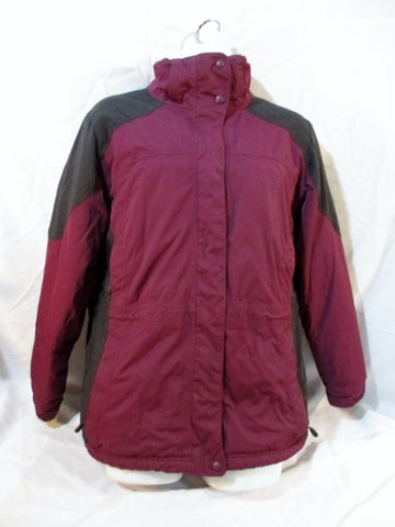 MENS L.L. BEAN Winter JACKET Ski Coat Parka XL PURPLE BURGUNDY BLACK