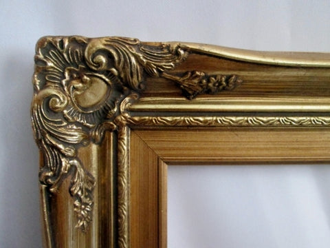 "Vintage 16X20"" GOLD GILT Art Wood Picture Painting Frame Nouveau Deco Rococo"