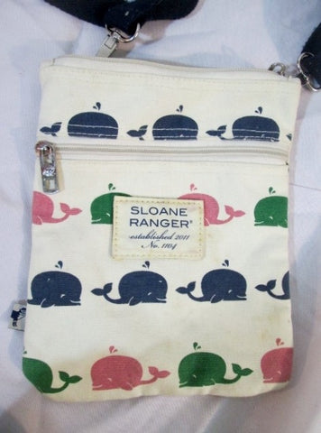 SLOANE RANGER WHALE Shoulder Bag Crossbody Swingpack Purse Pouch WHITE