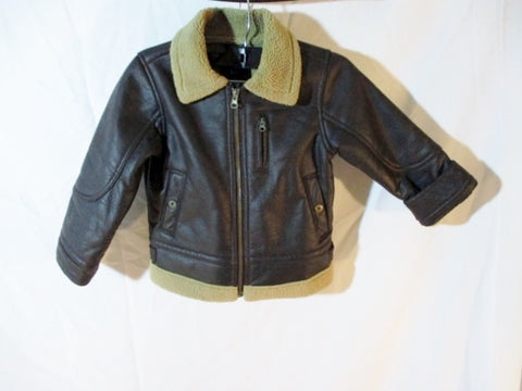 Kids Boys Youth BABYGAP BABY GAP PUNK Moto Jacket BROWN 5 Rocker