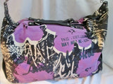 ANDY WARHOL Canvas Duffle Bag Travel Carry-On Overnighter Luggage BLACK PURPLE