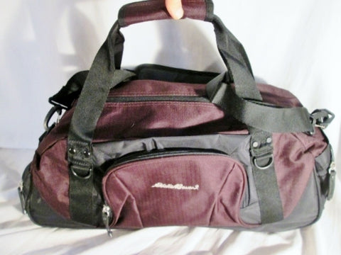 NEW EDDIE BAUER Duffle Gym Bag Travel Carry Overnighter Luggage PURPLE Vegan