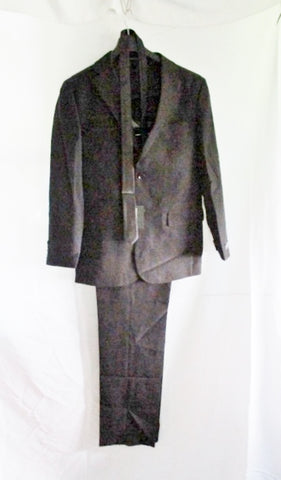 NWT NEW VITTORIO ST. ANGELO JACKET SUIT BLAZER Pant Tie 38L 32W BLACK Formal Sports