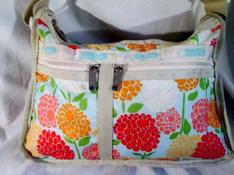 LESPORTSAC Nylon shoulder bag purse crossbody Vegan Le Sport Sac FLORAL PEONY Wallet