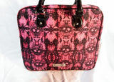 "15"" BETSEY JOHNSON laptop case bag attache briefcase SKULL RED BLACK"
