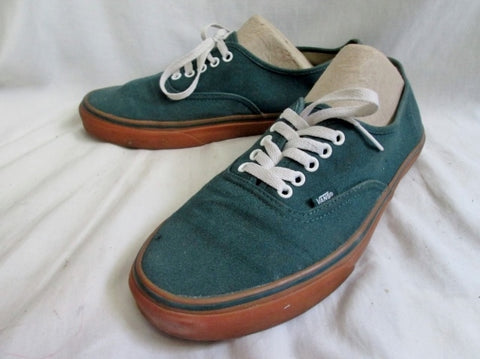 Mens VANS OFF THE WALL Skater Sneaker Tennis Shoe GREEN TEAL 11.5 Fitness
