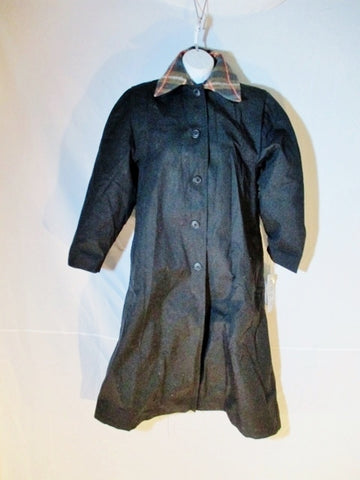 NEW NWT BREM RAINWEAR Trench coat jacket raincoat POLAND BLACK 8 Lined Womens