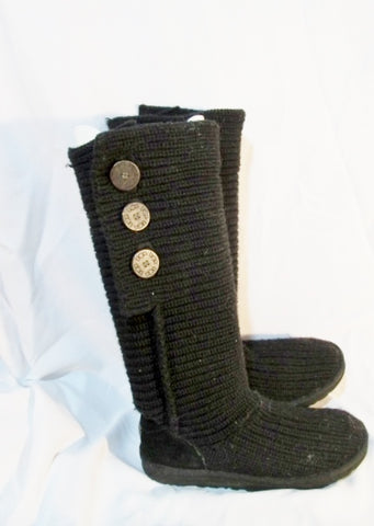 Womens UGG AUSTRALIA 5819 CLASSIC CARDY KNIT Sweater BOOTS Shoes BLACK 9
