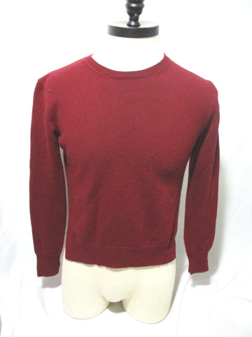 CELINE CASHMERE Sweater ARC TRIOMPHE BURGUNDY RED S Mens Jacket Crewneck