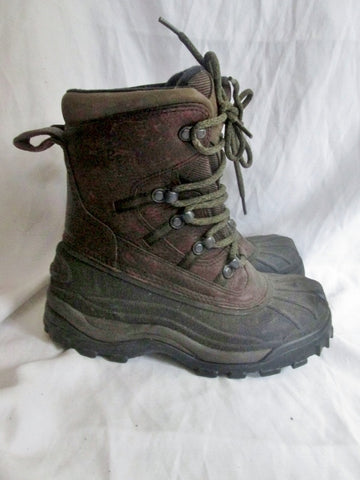 Womens L.L. BEAN DUCK Boots Waterproof Hiking Shoe BROWN 8 Leather Rubber