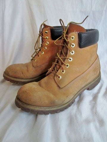 Mens TIMBERLAND 10061 WATERPROOF Leather HIKING Work Boots Trek 10.5 BROWN WHEAT