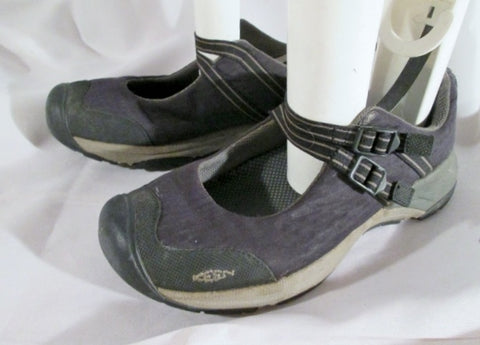 Mens KEEN Dual Buckle Washable WALKING SHOE Sandal BLACK 40 / 8.5 GRAY
