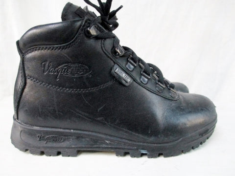 Boys Youth VASQUE SUNDOWNER Boots SHOES Outdoor Leather GORE-TEX BLACK 4 Hiking