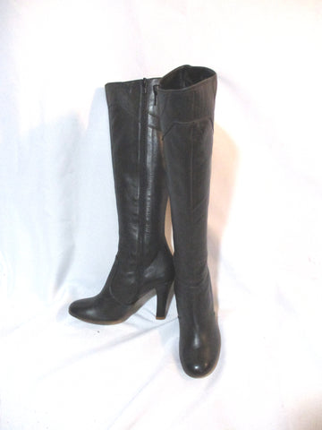 MARC JACOBS Knee High Leather High Heel Gogo Boot BLACK 6 Shoe Womens