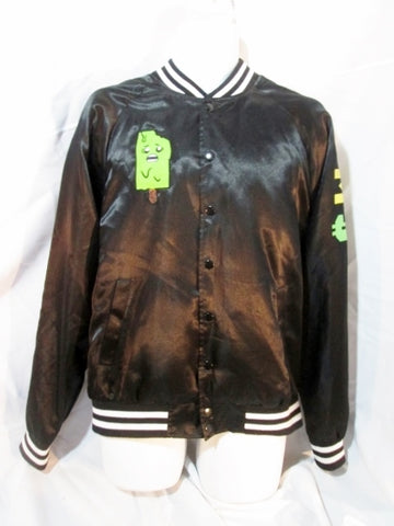 FOREVER 21 MEN Jacket Varsity Letterman Moto ICE POP M COAT BLACK College