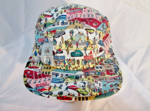 NEW WHERE'S WALDO Trucker Style Adult Adjustable Snapback Baseball Cap Hat READER Colorful