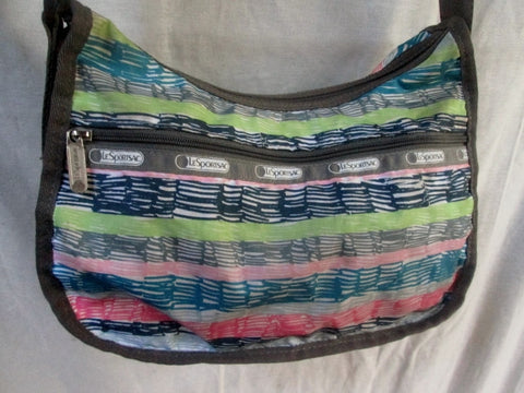 Le SPORT SAC shoulder bag Lesportsac crossbody purse GRAY MULTI M Vegan