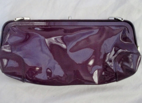 LATICO NEW JERSEY PATENT LEATHER BAG Clutch Purse Case Pouch PURPLE