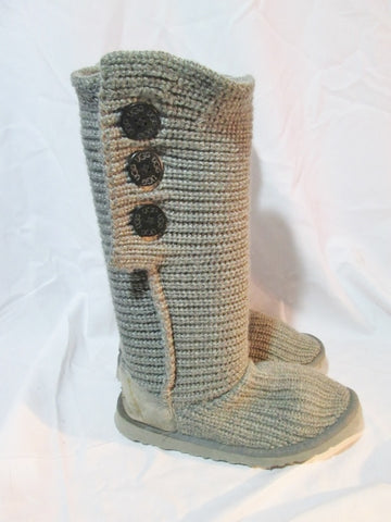 Womens UGG AUSTRALIA 5819 CLASSIC CARDY KNIT Sweater BOOTS Shoes GRAY 9