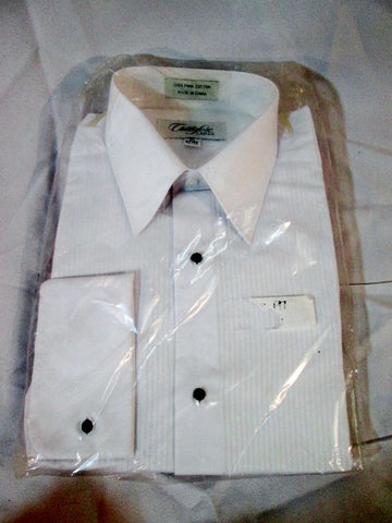 NEW Mens CRISTOFORO CARDI Pleated Tuxedo Shirt WHITE 15 - 32/33 Dress Formal