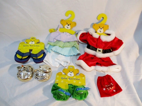 NEW LOT BUILD-A-BEAR Doll Plushie Clothing Clothes Outfits Shoes Accessories