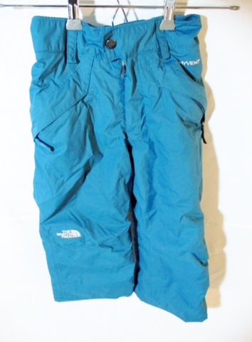 Boys Youth NORTH FACE HYVENT EZ GROW Snow Pants BLUE TEAL 6 XS/ TP Snowboarding