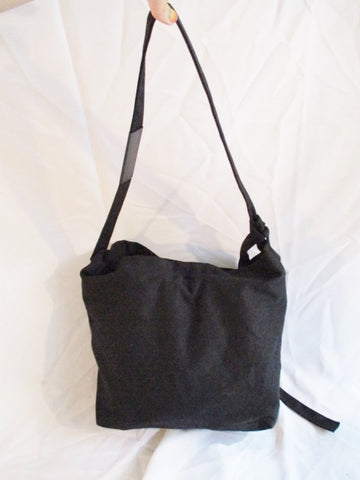 ANTONIOLI  ITALY hobo shoulder sling purse BLACK crossbody bucket bag
