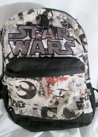 Disney STAR WARS BACKPACK Shoulder Rucksack Travel School Book BAG Hood BLACK