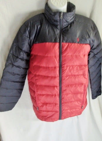 Junior Teen POLO RALPH LAUREN PUFFER Ski Winter JACKET Coat BLACK RED 14-16 L Snowboard