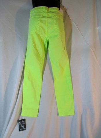 NWT NEW J Brand Skinny Leg MID-RISE Jean Pant 29 NEON YELLOW