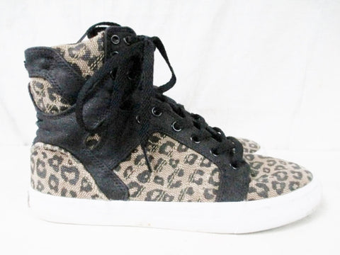Womens SUPRA FOOTWEAR Hi-Top Sneaker Skateboard Shoe LEOPARD 9