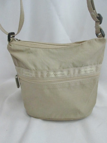 LeSPORTSAC nylon shoulder bag messenger crossbody purse swingpack BEIGE TAN duffel