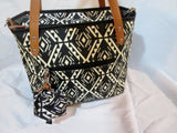 PETUNIA PICKLE BOTTOM Tote Bag SECRETS OF SALVADOR BLACK WHITE