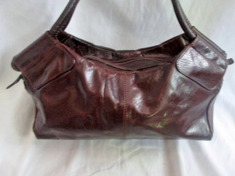 ALDO Leather Stitch Western Sling Hobo Bag Satchel Purse BROWN M