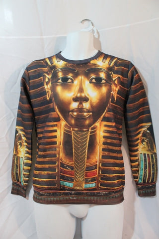 NEW Mens iSWAG KING TUT MUMMY Pullover Top Sweatshirt Shirt Jacket GOLD S