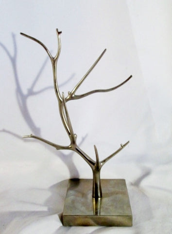 "14"" ALUMINUM TREE BRANCH Counter Top Display Jewelry Necklace Retail Shop Rack SILVER"