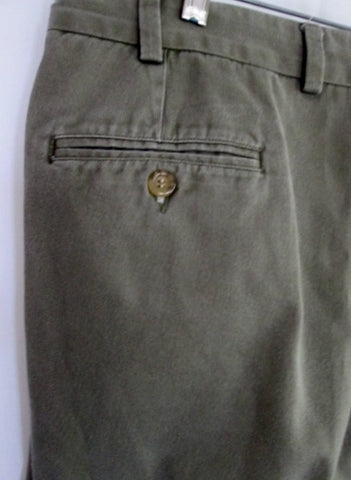 MENS BILLS KHAKIS Made in USA Khaki Chinos FLAT FRONT PANTS 40 X 29 GRAY