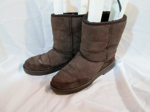 Mens UGG 5220 NEW ZEALAND Ultra Short Leather BOOT BROWN 12 CHOCOLATE