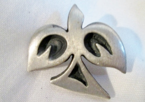 "1 1/8"" Made in SWEDEN Silver BIRD DOVE Wing Pin Brooch ethnic Peace Minimalist"