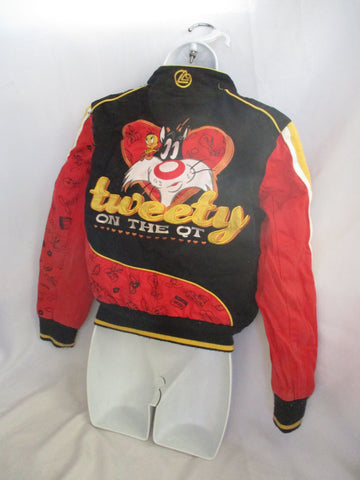 Vtg Tweety Bird Lot 29 Racing M Looney Tunes Bomber Varsity Jacket Coat