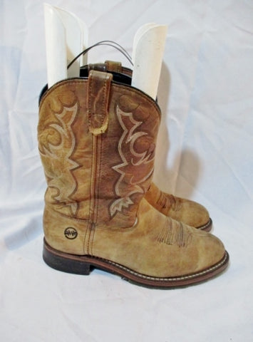 Mens DOUBLE-H ROPER DH3599 Western Cowboy Leather BOOT 10.5 BROWN