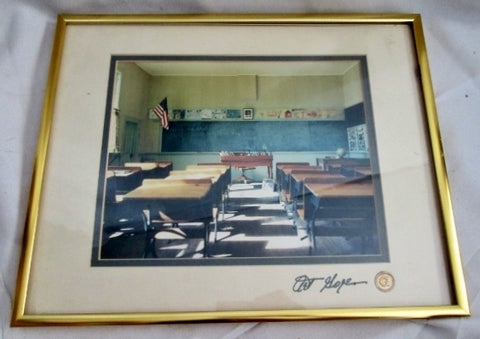 Signed ART GORE Original Old SCHOOL CLASSROOM Framed PHOTO Photography Wall ART