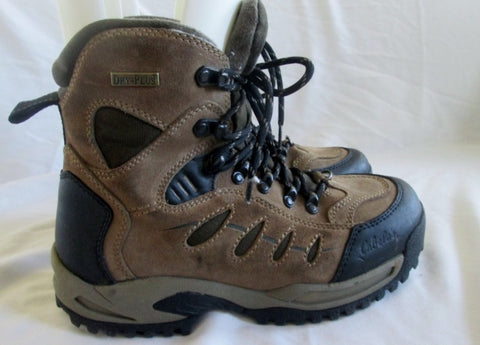 Youth Boys CABELA'S Waterproof Field Boot Leather HIKING Shoes Trek BROWN 6 Insulated