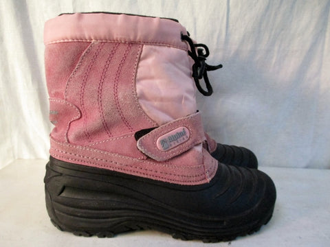 Kids Girls ALPINE DESIGN SNOW CRUSHER Insulated Rain Snow Boots Winter PINK 4 Suede