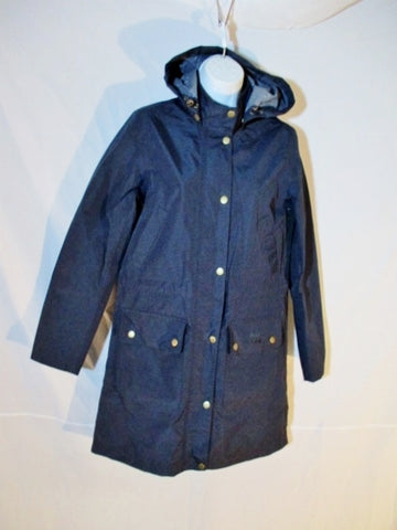 NEW BARBOUR DRYBURGH Raincoat Rain jacket coat 34 4 BLUE NAVY Waterproof Womens  Hood Breathable