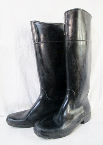 Womens RALPH LAUREN Wellies Rain Duck Boots Gumboots Shoes BLACK 8