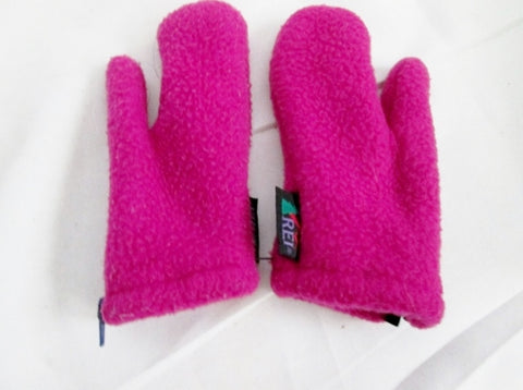REI Kids Juniors Infant Childrens Toddlers FLEECE Mittens Gloves BERRY PINK XS BABY Ski Snowboard