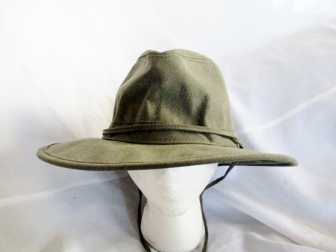 Henschel Hat Co Western Cowboy Double H Hat USA Brim Rider Sz L GRAY