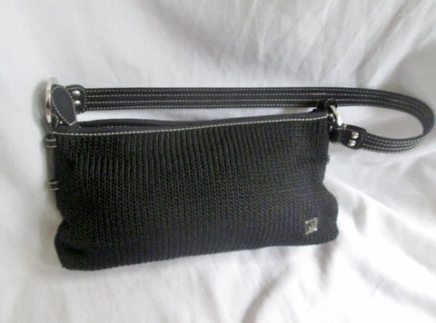 NEW THE SAK signature knit shoulder bag satchel crossbody purse BLACK