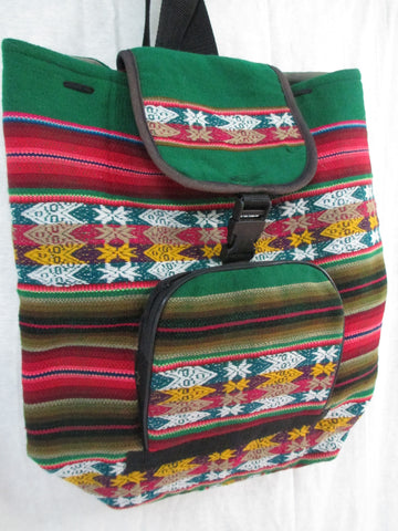 NEW Latin Rucksack Daytripper BACKPACK TRAVEL BAG SERAPE BLANKET RAINBOW